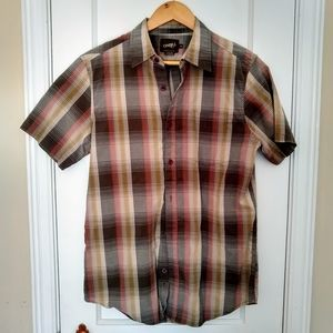 ONEILL M tan brown gray button down